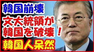 【韓国の反応】文在寅政権が韓国をめちゃくちゃにしたと分かるデータがコチラ…→そのデータに韓国人が呆然