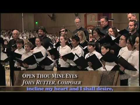 Open Thou Mine Eyes, John Rutter