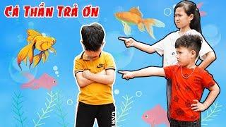 Cá Thần Trả Ơn Và Hai Chị Em Tham Lam - Bài Học Cho Bé ♥ Min Min TV Minh Khoa
