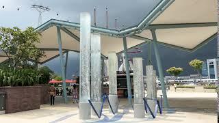싱가포르 유니버셜 스튜디오의 분수 기둥