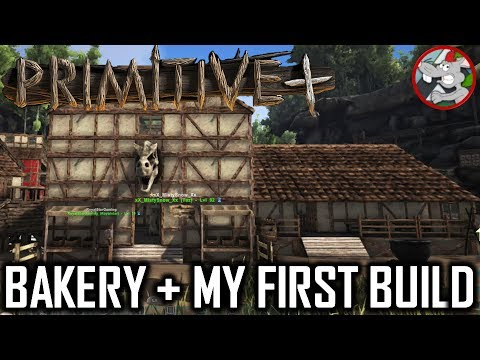 Ark Primitive Plus Bakery - How To Craft Brick /Lumber Pieces - My First Build