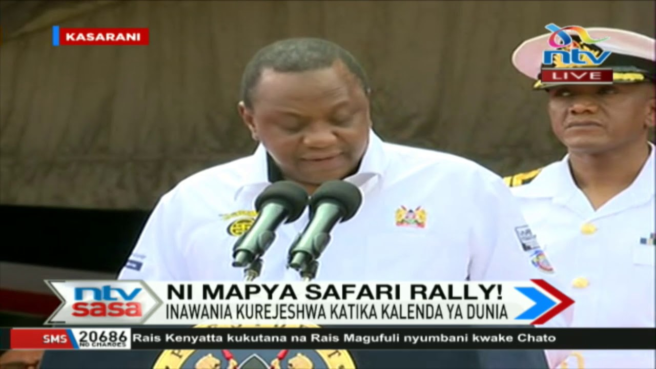 President Uhuru Kenyatta flags off Safari Rally event at Kasarani Stadium