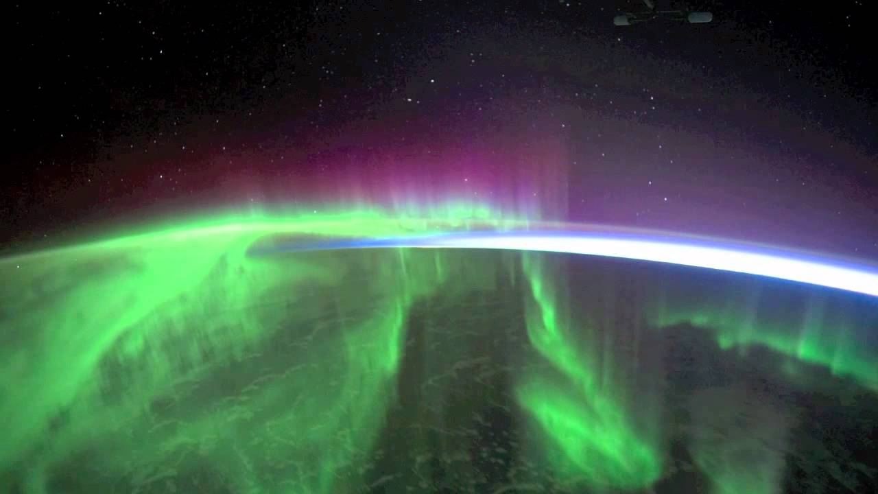 Aurora from space picture