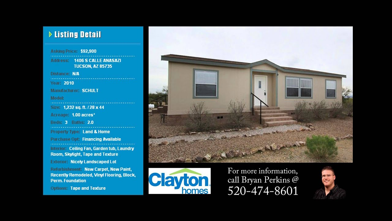 Repo Homes for Sale - Tucson - Clayton Homes - YouTube
