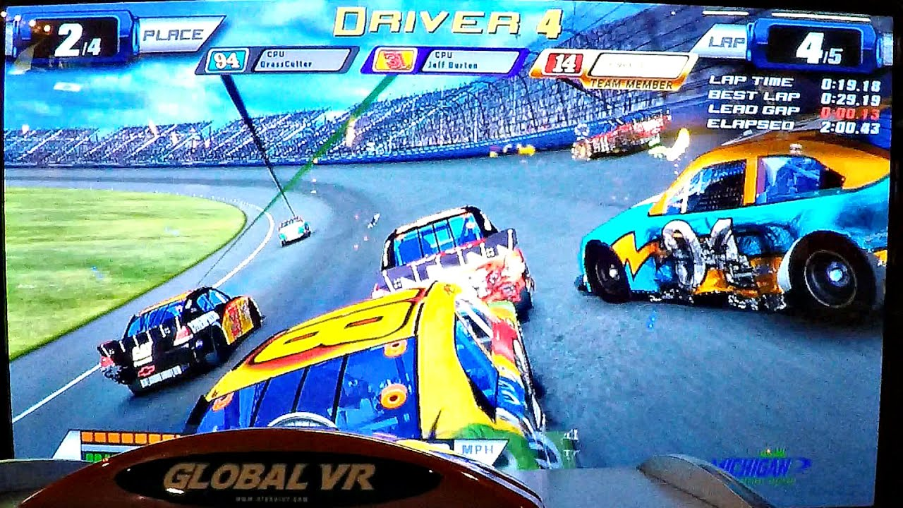 Nascar Team Racing Arcade Game At Dave Buster S Ticket