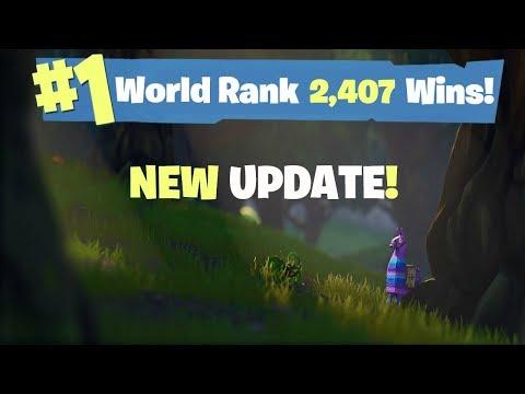 New Fortnite Update | #1 FORTNITE WORLD RANKED | 2,407 SOLO WINS!