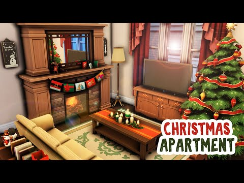 Christmas Apartment 🎄 || The Sims 4 Apartment Renovation: Speed Build