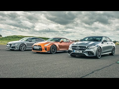 Nissan GT-R vs Audi RS7 vs Merc E63 AMG - Drag Races - Top Gear