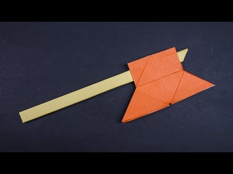 Easy origami Axe - How to make paper axe