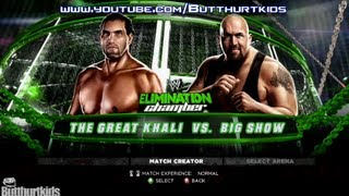 WWE 13: THE GREAT KHALI vs BIG SHOW (ELIMINATION CHAMBER)