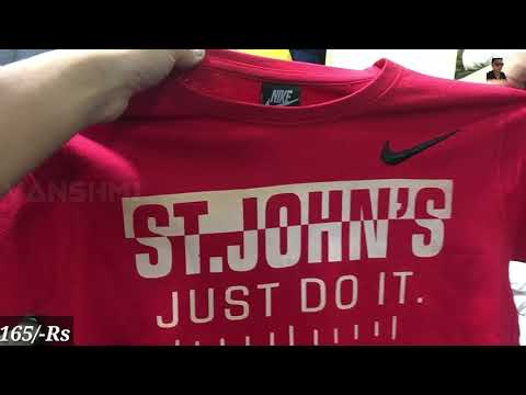Super and best quality Branded T-shirt Wholesale market, Tank road, Delhi