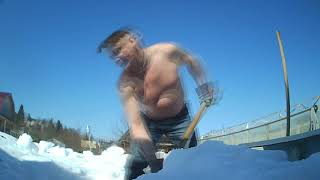 Смотреть уборка снега шутка онлайн