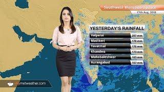 Monsoon Forecast Aug 18, 2018: Flood in Gujarat, Kerala; Heavy rain in Coastal Karnataka