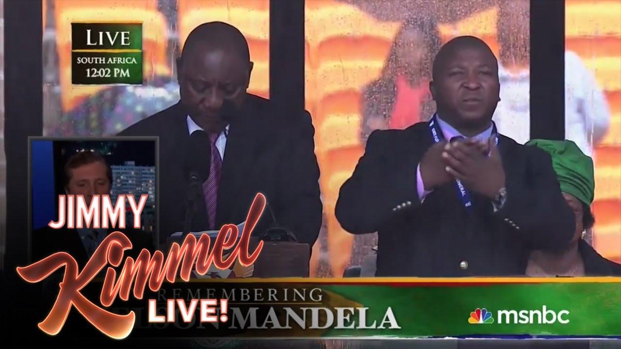 Mandela Memorial >> Sign Language Interpreter Translates Mandela Memorial Impostor's Signs - YouTube