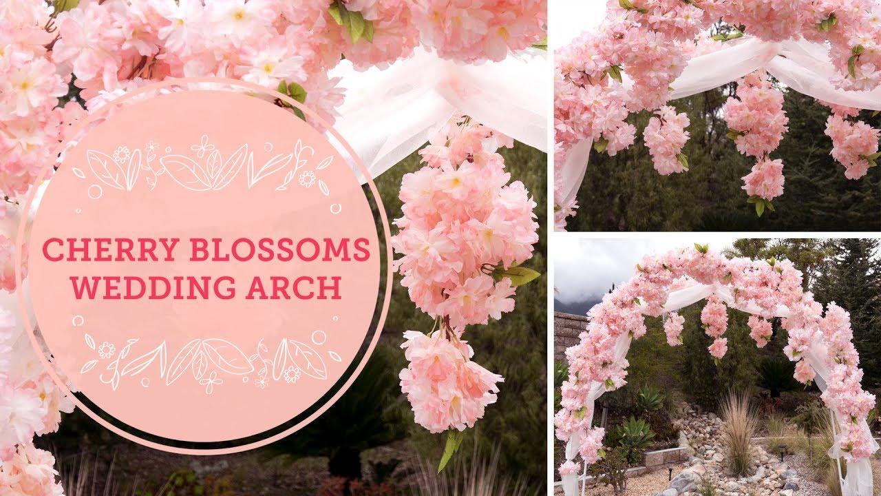 Spring Cherry Blossoms DIY Wedding Arch | BalsaCircle.com - YouTube