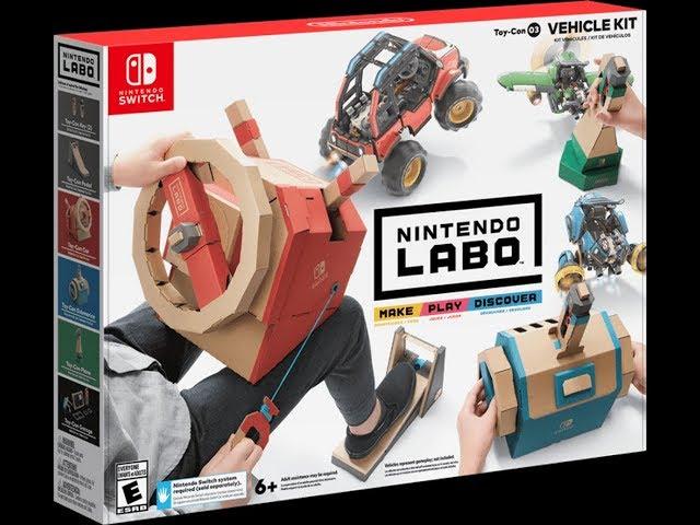 Let's Create! Nintendo Labo Vehicle Kit Part 1 (Pedal) Speedrun Timelapse