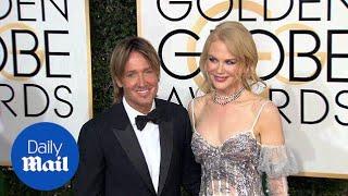 Nicole Kidman stuns alongside Keith Urban at Golden Globes - Daily Mail