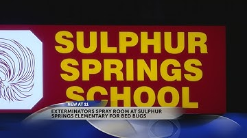 Exterminators spray for bed bugs at Sulphur Springs Elementary