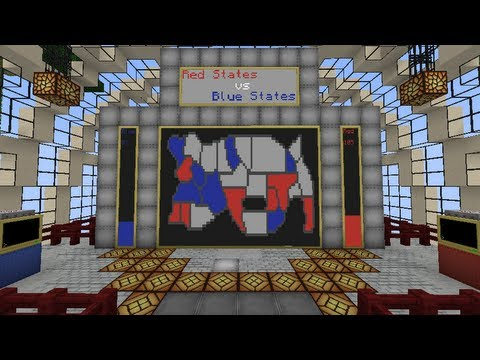 New Minecraft Challenge Map: Red States vs Blue States