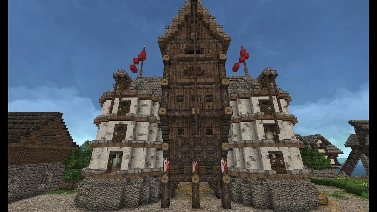 Lets Show Minecraft Mittelalter LagerhausSpeicherstadt - Minecraft lagerhauser