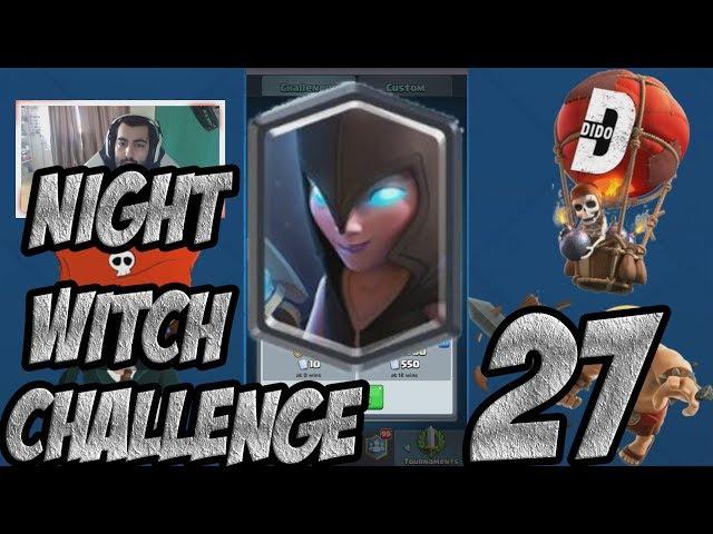 Clash Royale #27 Нова LEGENDARY карта! NIGHT WITCH CHALLENGE!