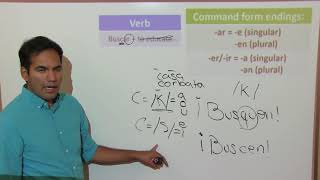 Formal Commands: Verbs ending in car, gar, zar