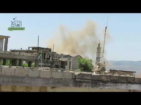 الحولة من مناطق خفض التصعيد وطائرات الأسد تقصفها لليوم الثاني