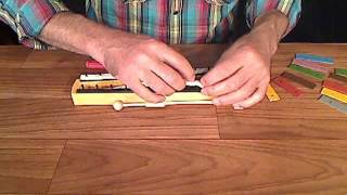 SONOR Orff Reparaturvideo - Austausch des Zapfenbands bei Kinderglockenspielen