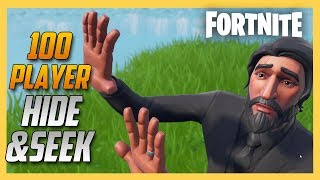 100 Player Hide and Seek in Fortnite! | Swiftor