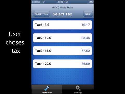 HVAC Flat Rate Iphone App