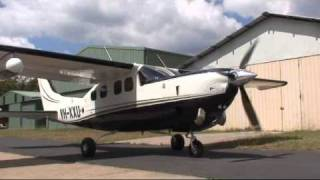VH-XXU Cessna 210 Pressurised Silver Eagle Turbine Start Up, Wedderburn Airport, New South Wales