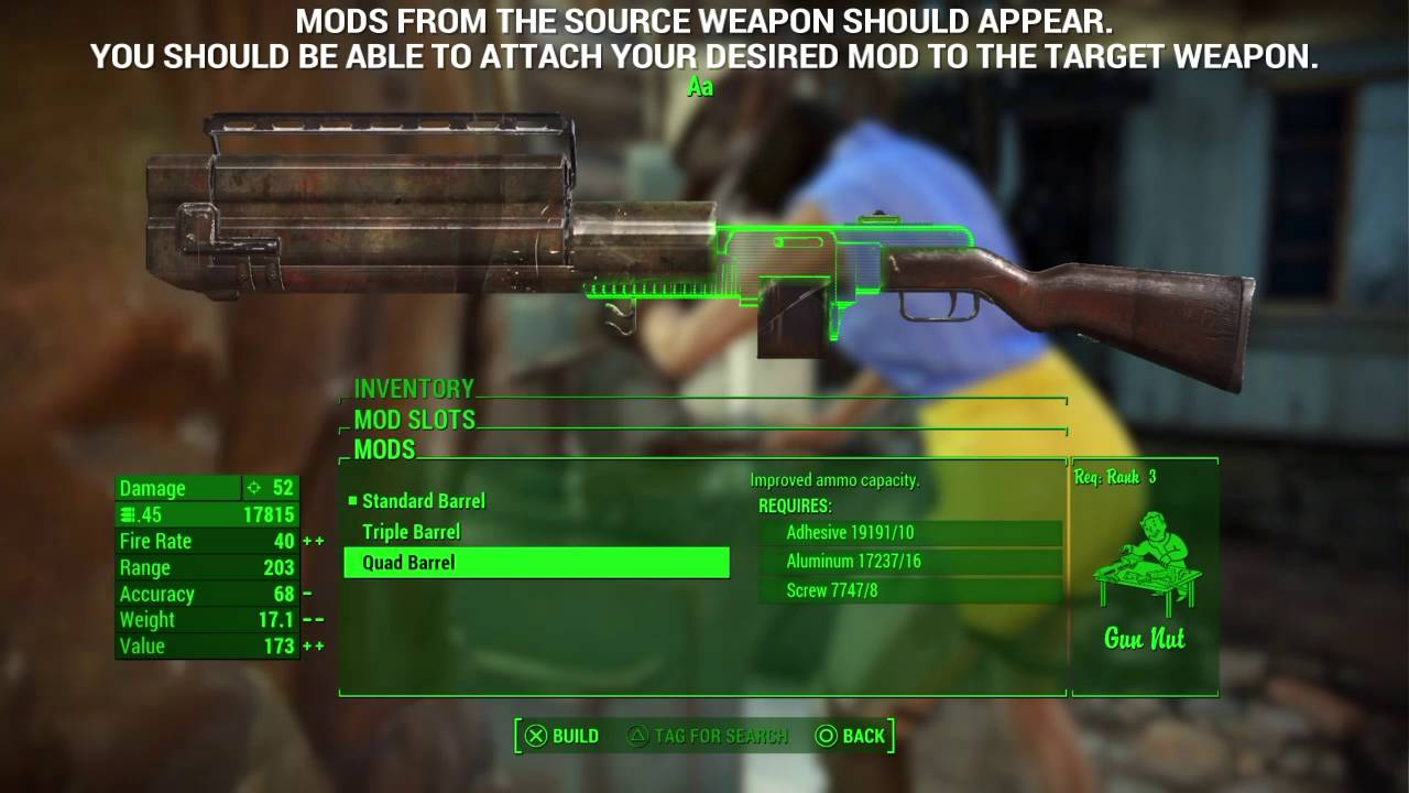Fallout 4 (PS4) - Force Mod Attach Glitch/Attach Any Weapon Mod to Any  Weapon