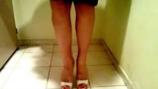 Dephsacha Crossdresser Lola Red High Heels Mule Feet Fetish Toe Sandal Sexy Shoe