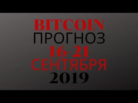 криптовалюта  прогноз на неделю  16 21 сентября 2019