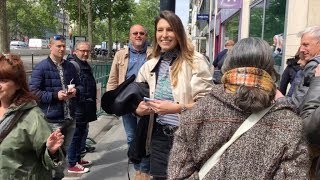 EXCLUSIVE : Laury Thilleman at RTL radio station in Paris