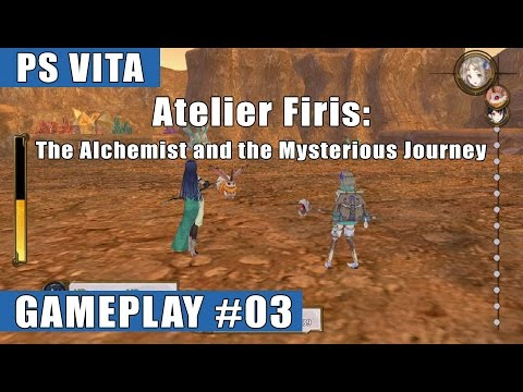 Atelier Firis: The Alchemist and the Mysterious Journey PS Vita Gameplay #03 (Outer World/Battles)