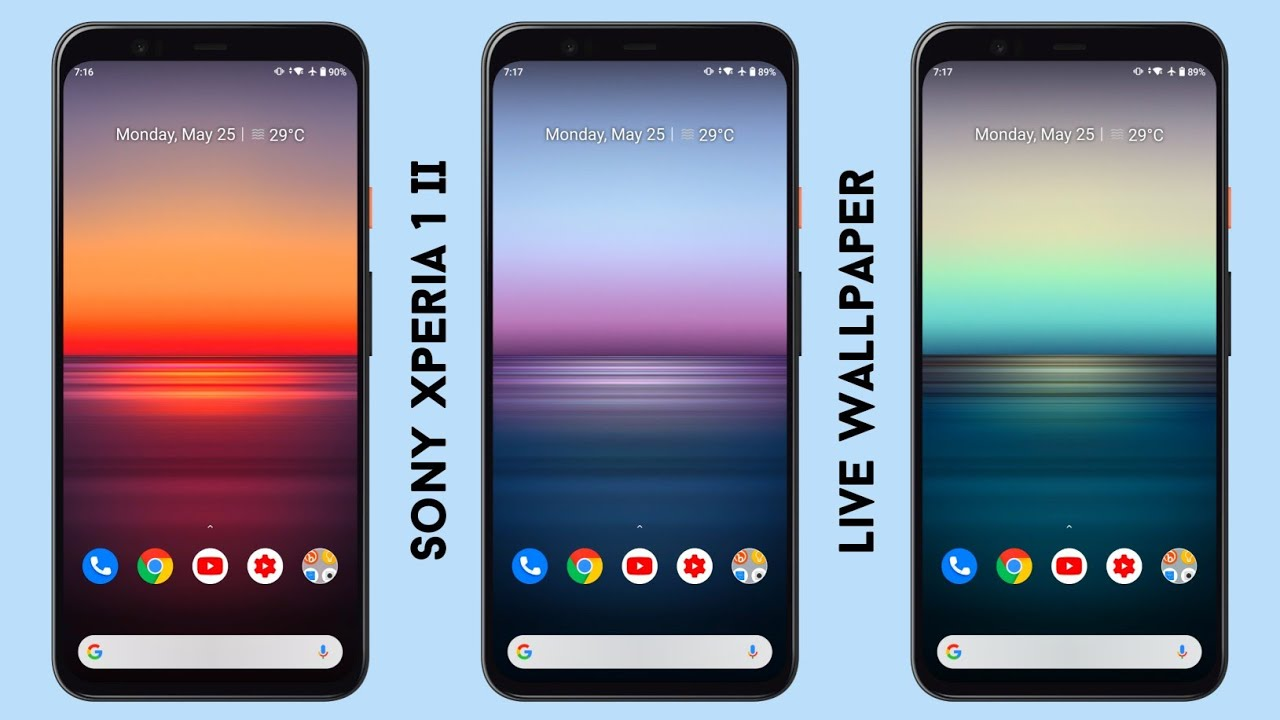 Sony Xperia 1 Ii Live Wallpaper Install Any Android Device No Root Youtube