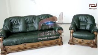 Комплект мягкой мебели Консул 23 Пинскдрев(Представляем набор мягкой мебели Консул 23 фабрики Пинскдрев. Обзор моделей в коже. http://pinskdrev.msk.ru/cat/kozhanye_komplek..., 2016-04-25T16:10:43.000Z)