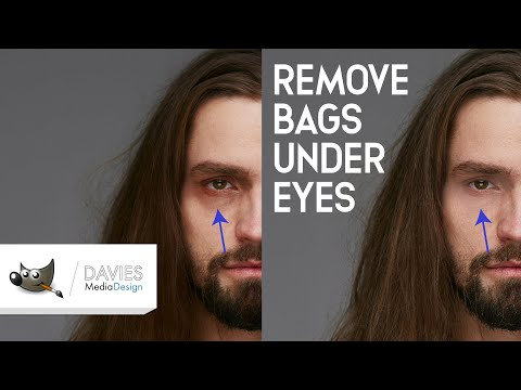Remove Dark Circles Under Eyes Easily in GIMP