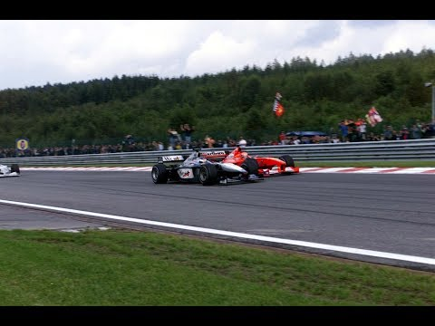 THE GREATEST WIN OF MIKA HAKKINEN VS MICHAEL SCHUMACHER SPA 2000