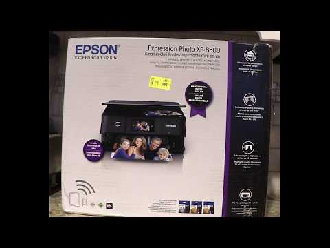 Unboxing and Demo of Epson XP-8500 Small-in-One Printer -#Giveaway on MommyRamblings.org