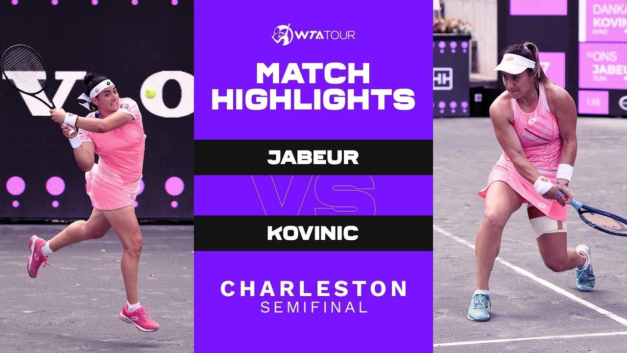 Danka Kovinic vs. Ons Jabeur   2021 Charleston Semifinal   WTA Match Highlights
