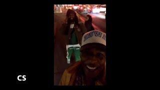 Asap Rocky Smoking Up Walking Around New York City