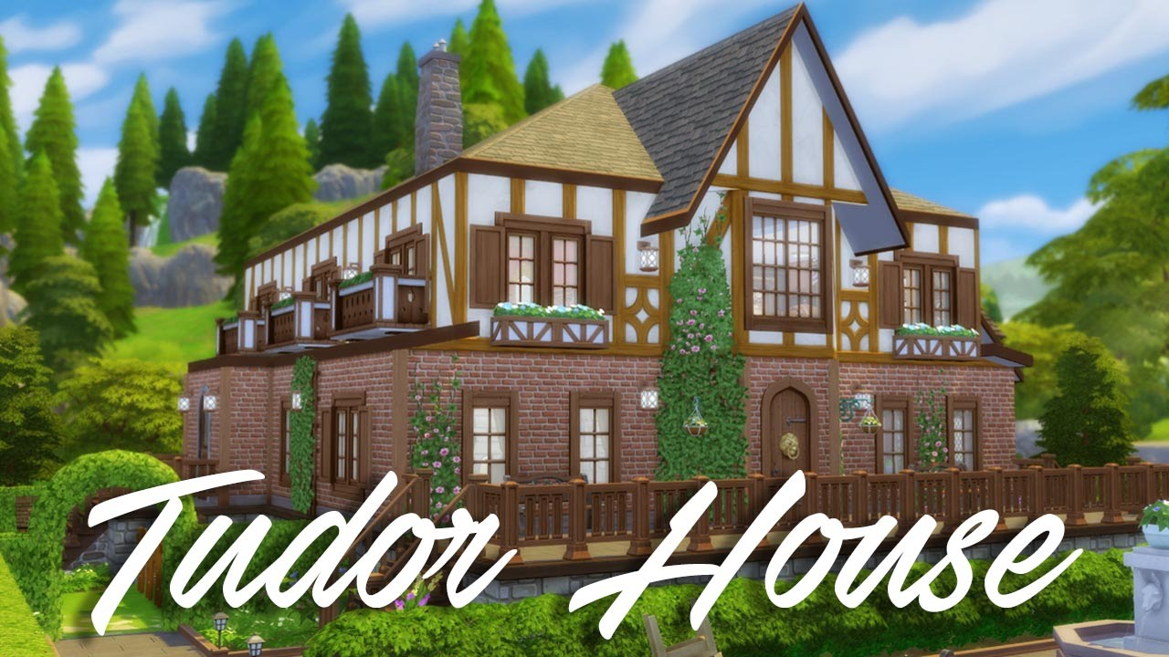 The sims 4 speed build tudor house youtube - What makes a house a tudor ...