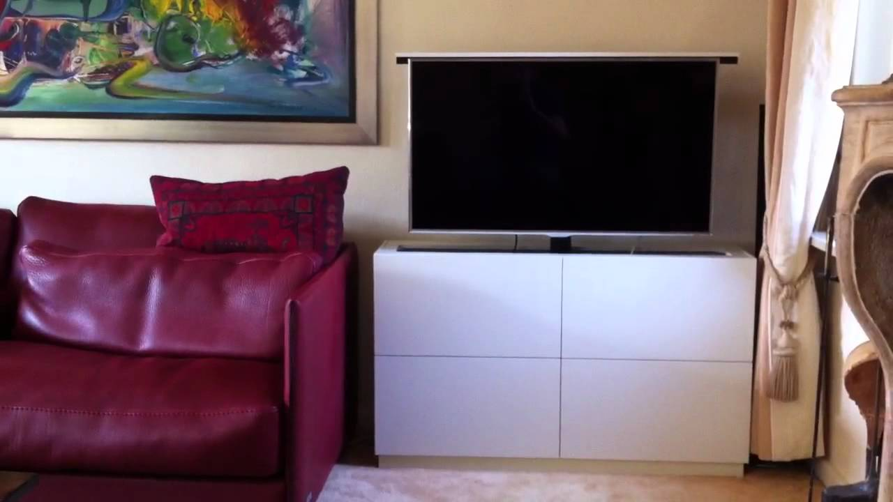 tv lift meubel youtube. Black Bedroom Furniture Sets. Home Design Ideas