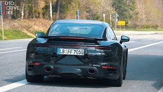 2020 porsche 992 turbo s spied testing at the nrburgring