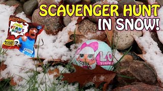 SCAVENGER HUNT AFTER SNOW STORM! L.O.L. SURPRISE UNDER WRAPS, RYAN'S TOY WORLD, POOPSIE SURPRISE!