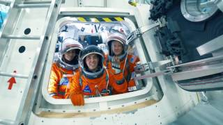 Orion Backstage: Up the Hatch with Astronauts
