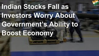 Stocks fall as investors worry about govt's ability to boost economy