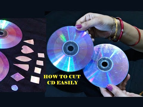 How To Cut CD /DVD Easily For Craft - 3 Easy Method / CD craft / Best out of waste